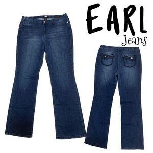 Earl jeans size 14 stretch slim boot cut